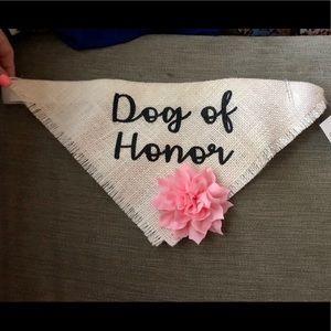 Dog of Honor collar/bandana